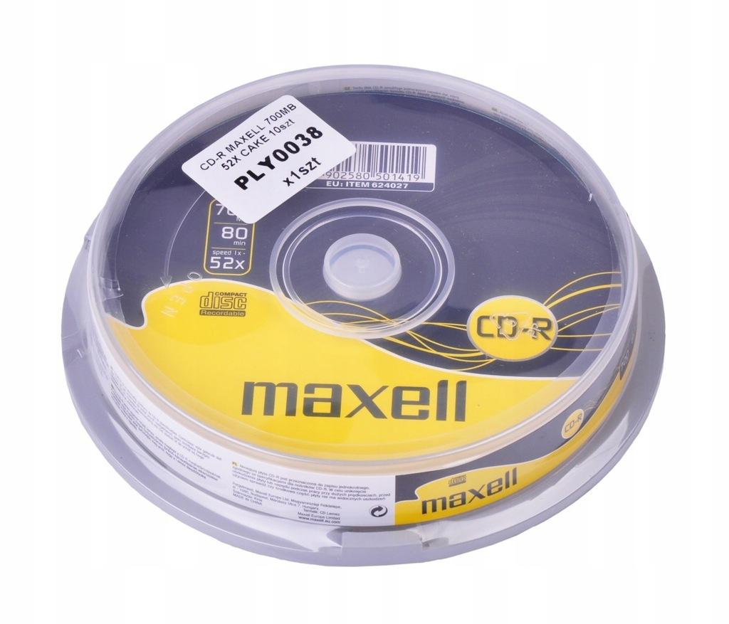 CD-R MAXELL 700MB 52X 10szt