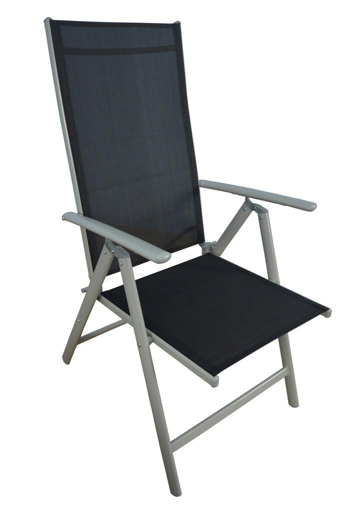 Krzesło ogrodowe aluminiowe z regulowanym oparciem HOME
