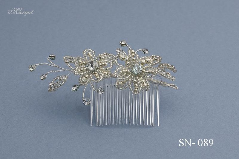 Stroik ślubny SN089 - fryzury ślubnej, głowę