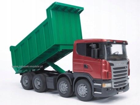 Pojazd BRUDER SCANIA R-series Tipper truck
