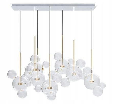 Lampa wisząca CAPRI LINE 7 złota - LED, aluminium,