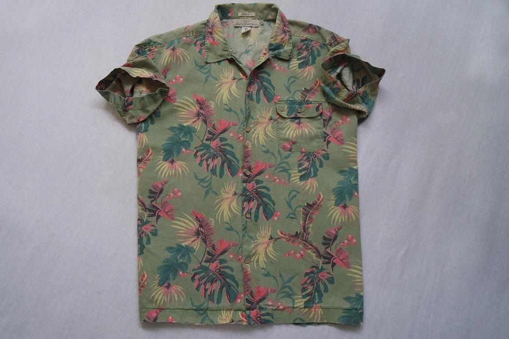 LOGG H&M koszula zielona hawajska LEN___XL/XXL