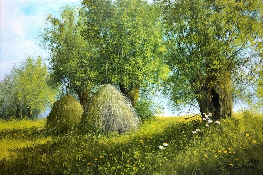 M.Szczepaniak `Na łąkach` 60x40 cm