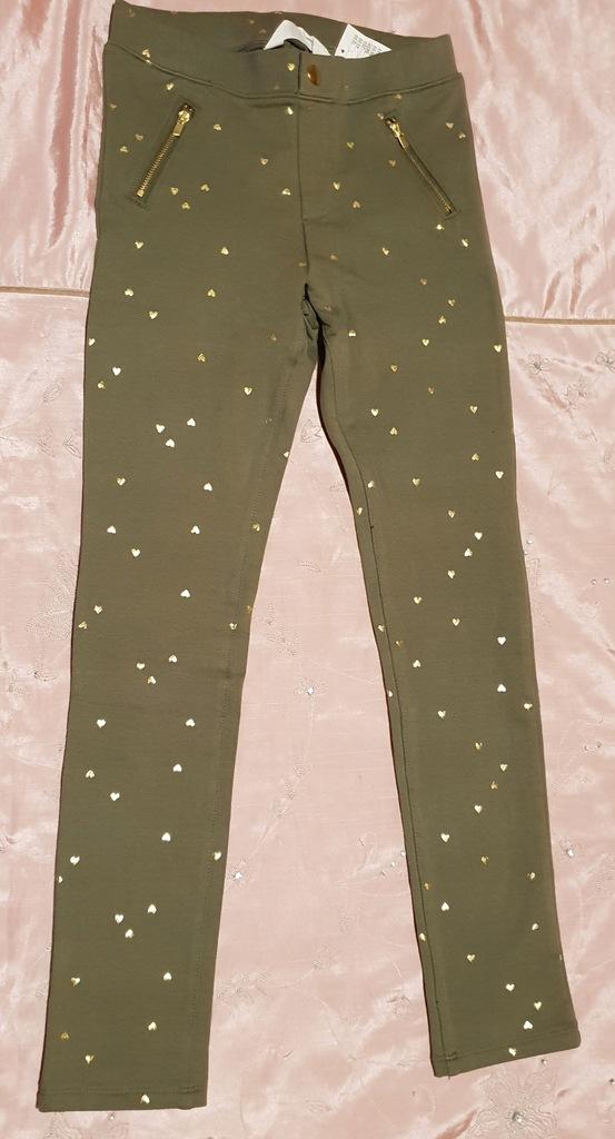H&M tregginsy spodnie legginsy zamki 140 cm