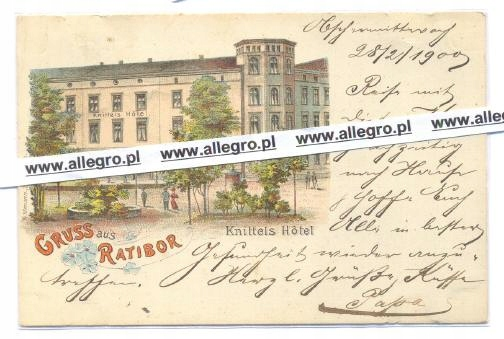Racibórz - Gruss Knittels Hotel litografia
