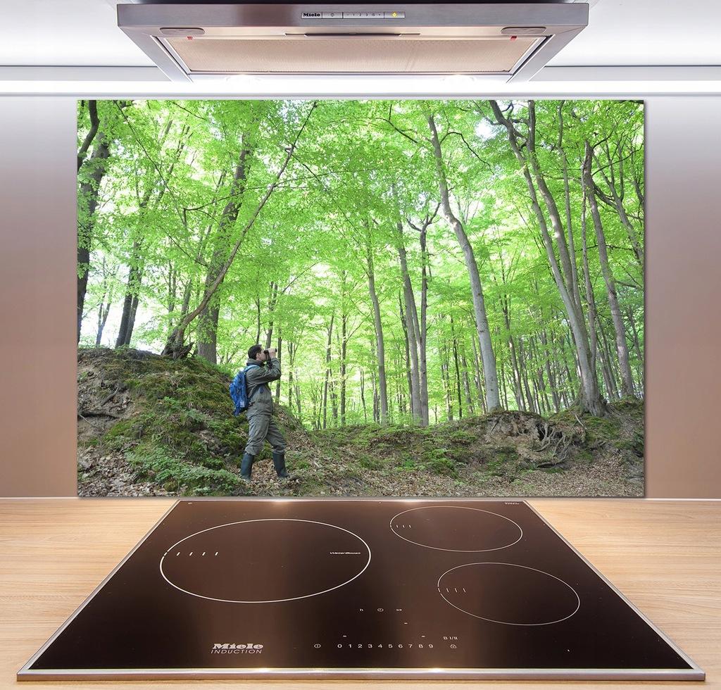 Panel do kuchni Ornitolog w lesie 100x70 cm + KLEJ