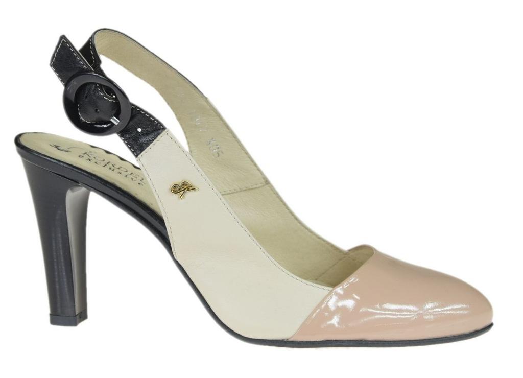Sandały damskie Kordel AW 492 beżowe skóra R.37