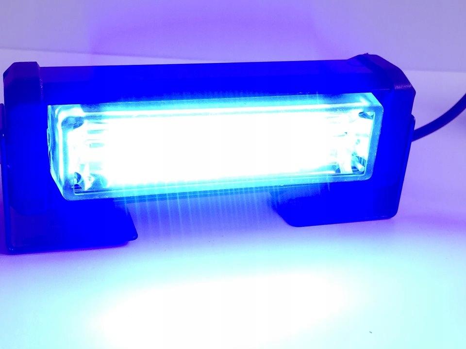 Lampa ostrzegawcza stroboskop 8W 12 24 V niebieski