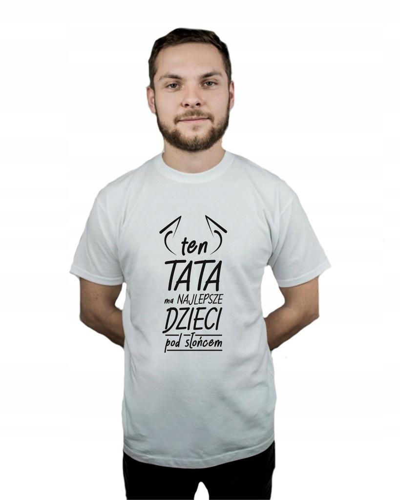 Koszulka męska DZIEŃ OJCA TATA PREZENT W4 r XXL