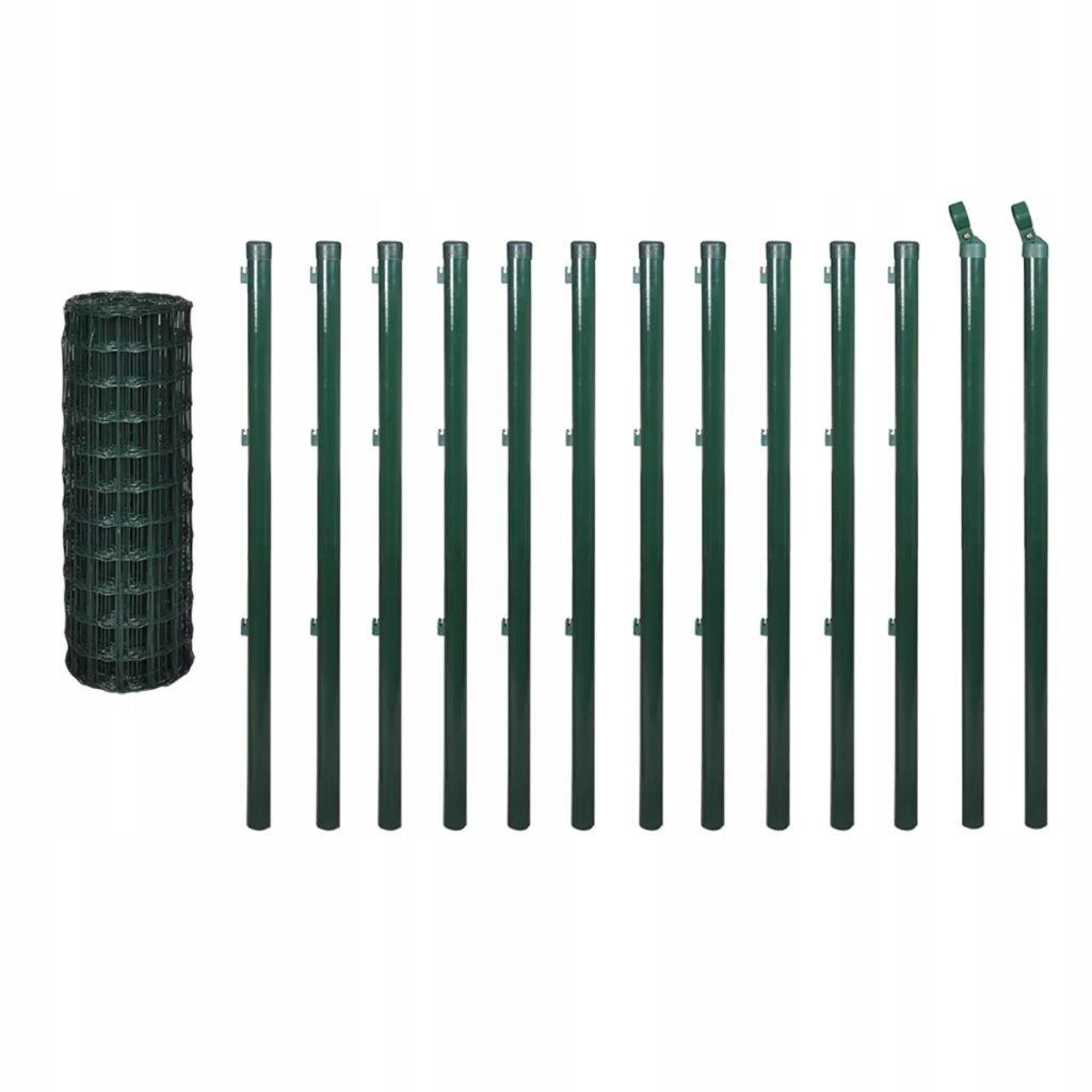 Euro ogrodzenie, 25 x 1 m, kolor zielony, stal