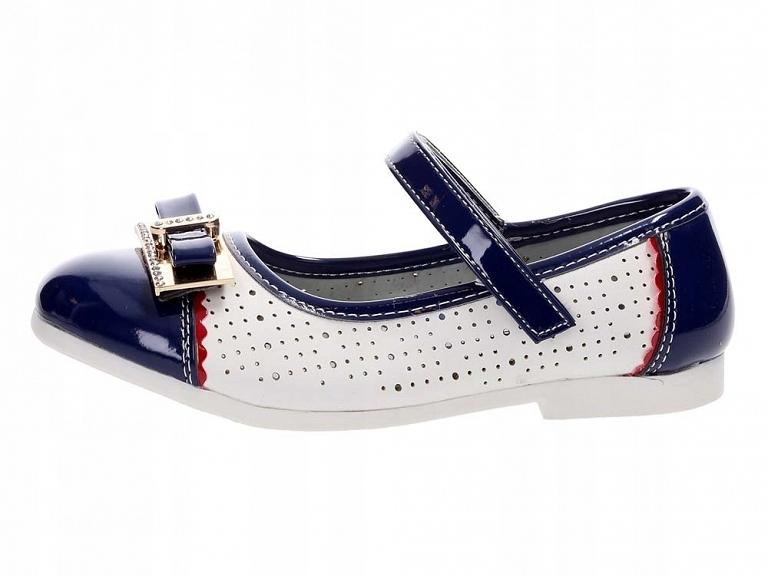 Buty dziecięce balerinki BADOXX 274 GRANAT r27