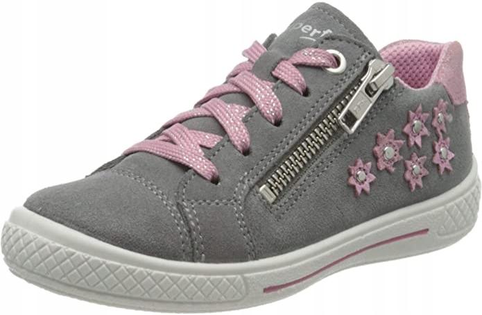 Superfit Tensy buty dla dziewcząt szare różowe 29