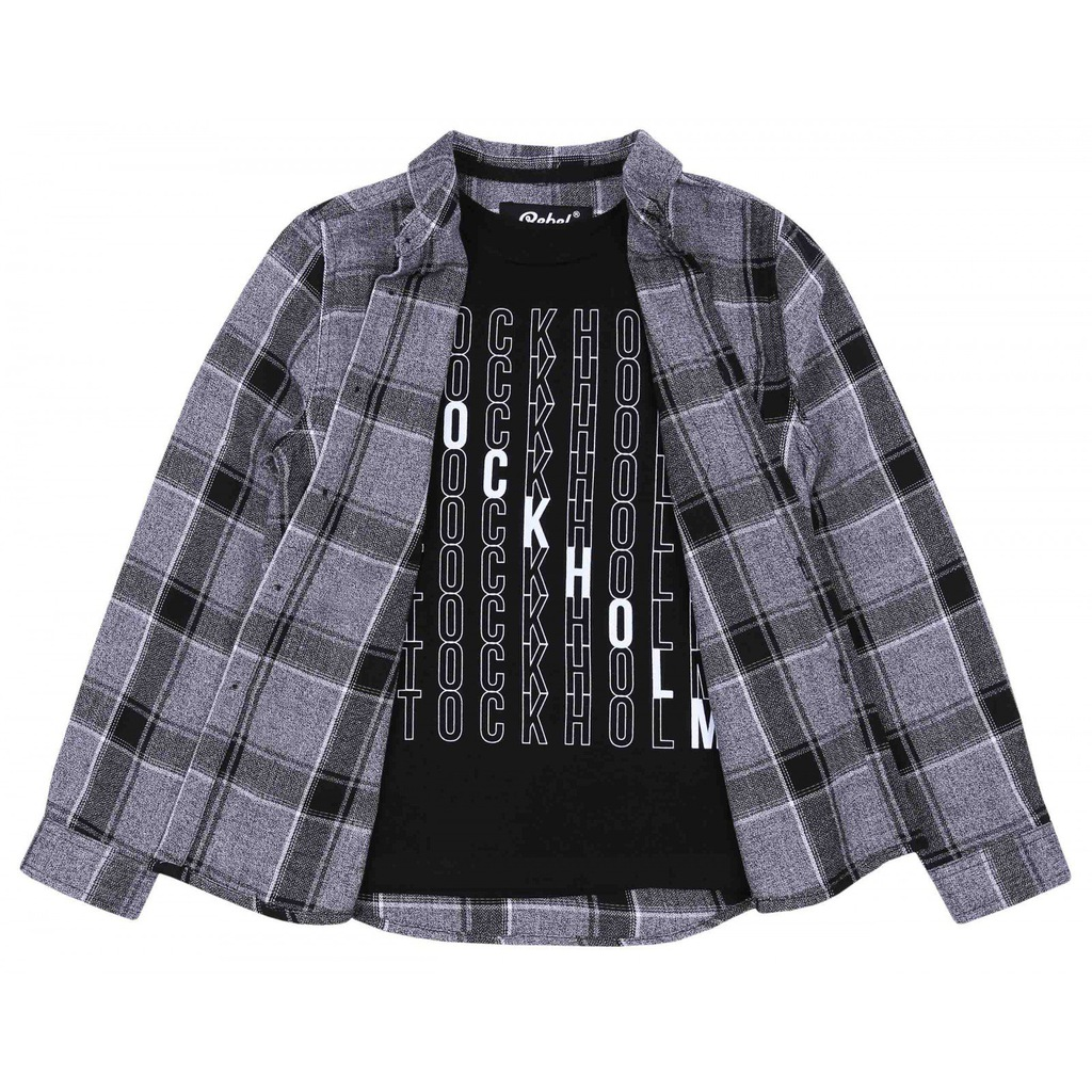 Zestaw koszula + T-shirt REBEL PRIMARK 10-11 lat