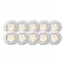 Lampa punktowa taras 45mm LED IP67 12V ciepła 10sz