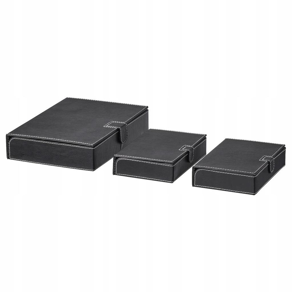 IKEA RISSLA Pudełko na dokumenty 3 szt czarny