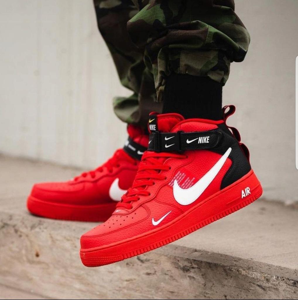 Buty Nike 44 Air Force 1 High Utility CZERWONE