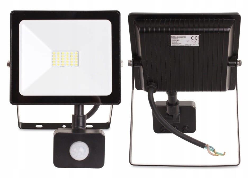 Naświetlacz LED 20W 1600 lm kwadratowy + PIR