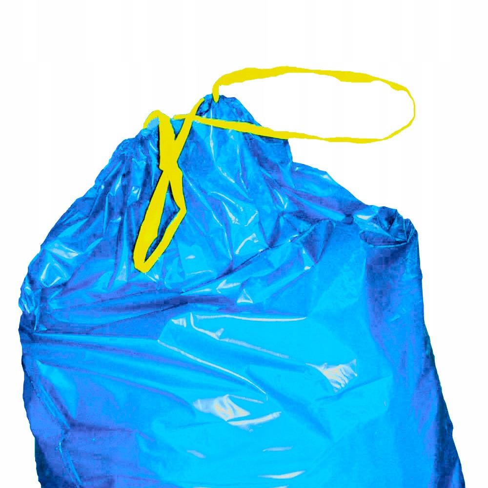 Worki na odpadki śmieci LDPE wiązane 25szt. 110L