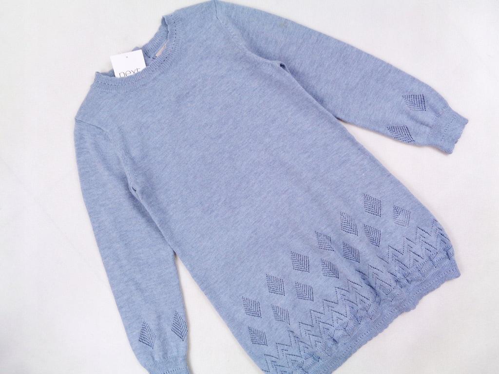 Next mięciutka niebieska sukienka Nowa 98 cm