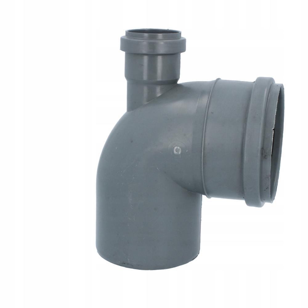 Przelotka łączenia rur kanalizacyjnych kątowa 110