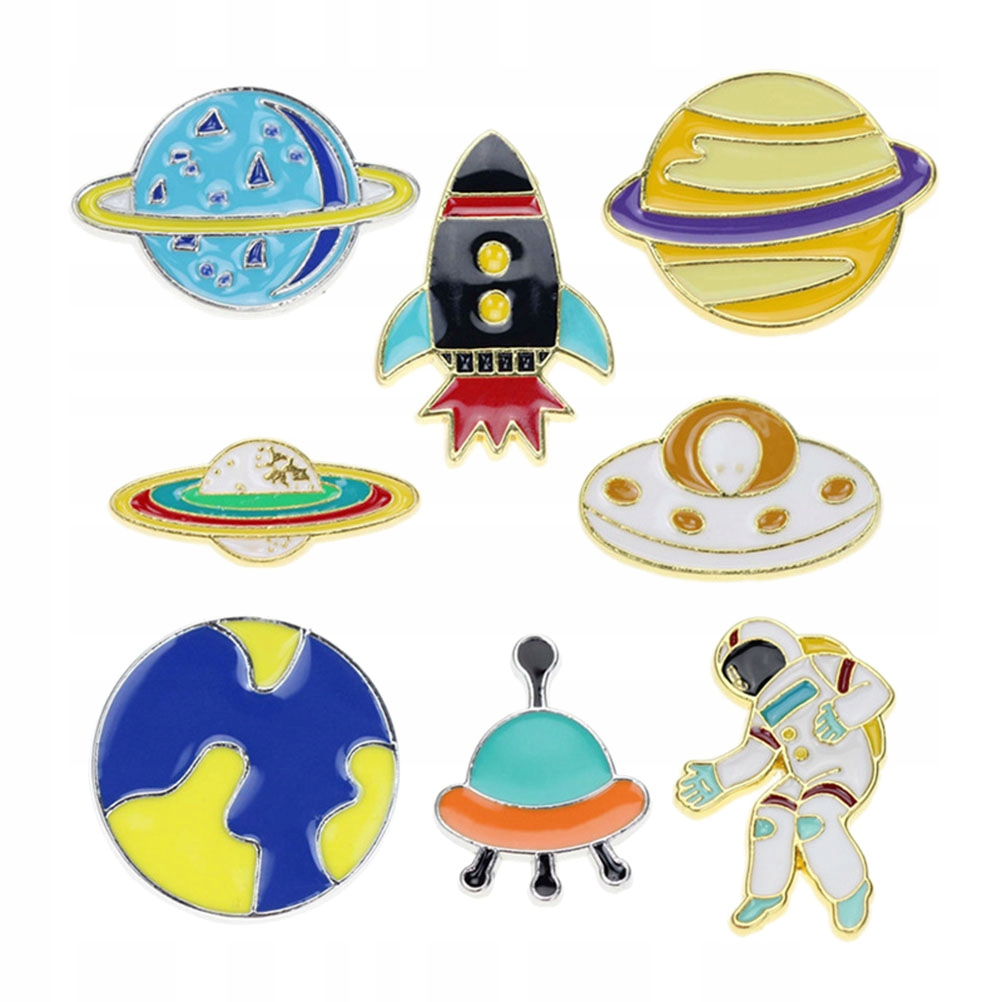8szt. Cartoon Spaceman Shape Design Kreatywna dzie