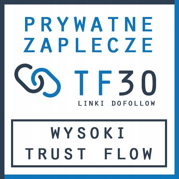 Pakiet 5 mocnych linków dofollow - różne IP - TF30