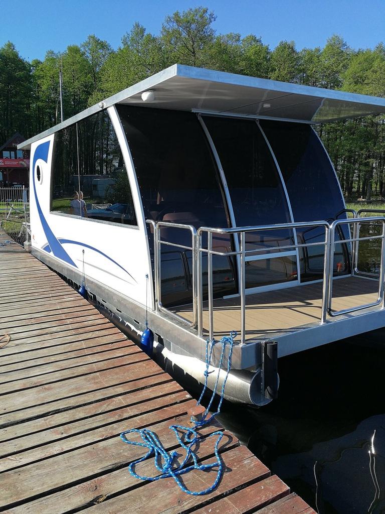 Katamaran Łódź Platforma House Boat Smart Boat