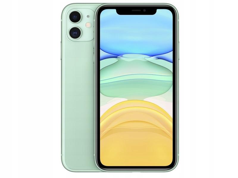 Zielony Smartfon APPLE iPhone 11 128GB IP68 IOS 13