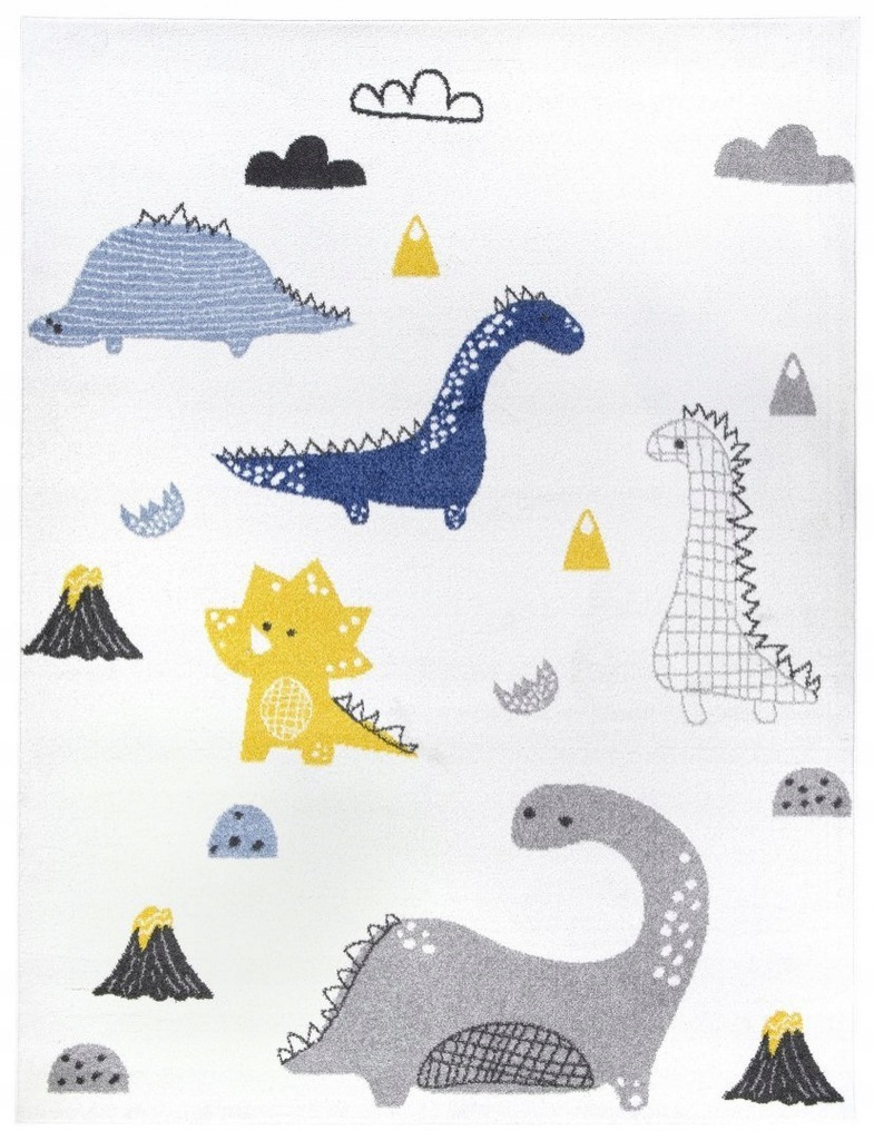 Dywan pokój dziecięcy dinozaury 140x200 przytulny_