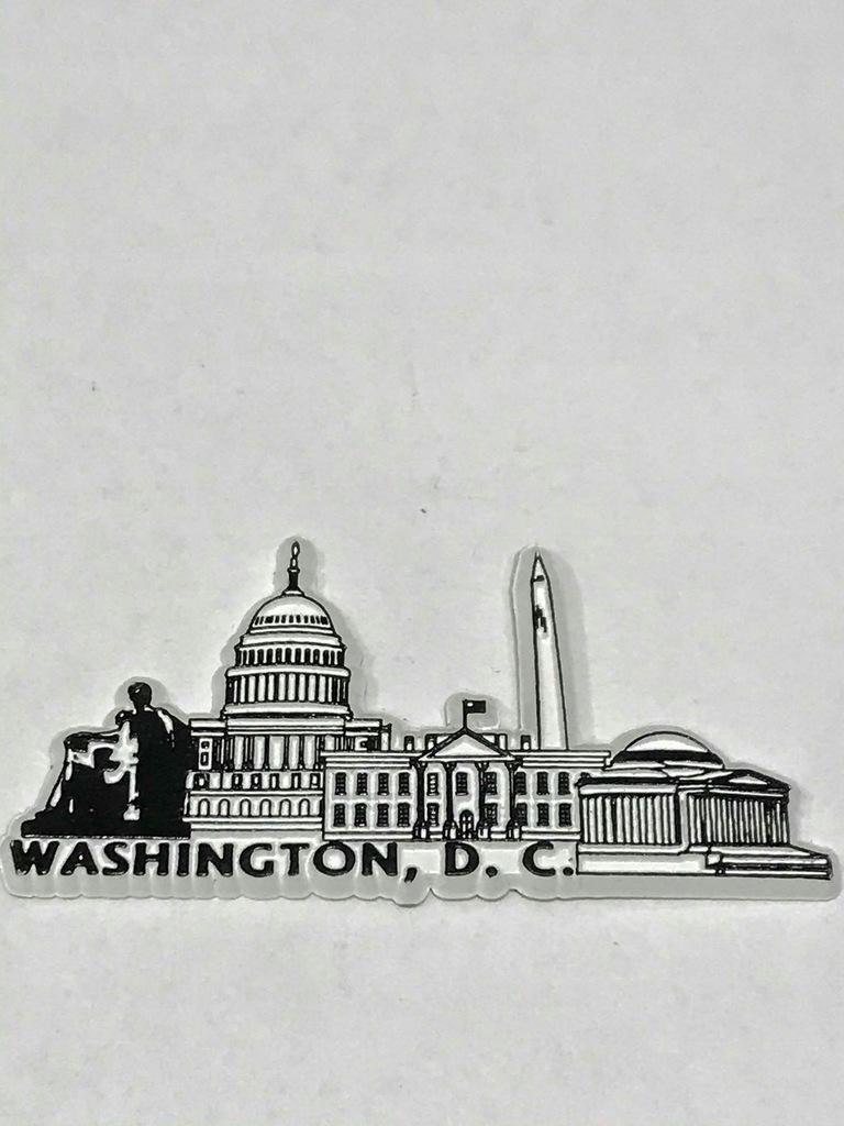 Magnes lodówkę magnez Usa Ameryka Waszyngton płask