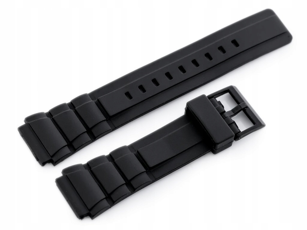 Pasek gumowy do zegarka - model 5 czarny - 20mm