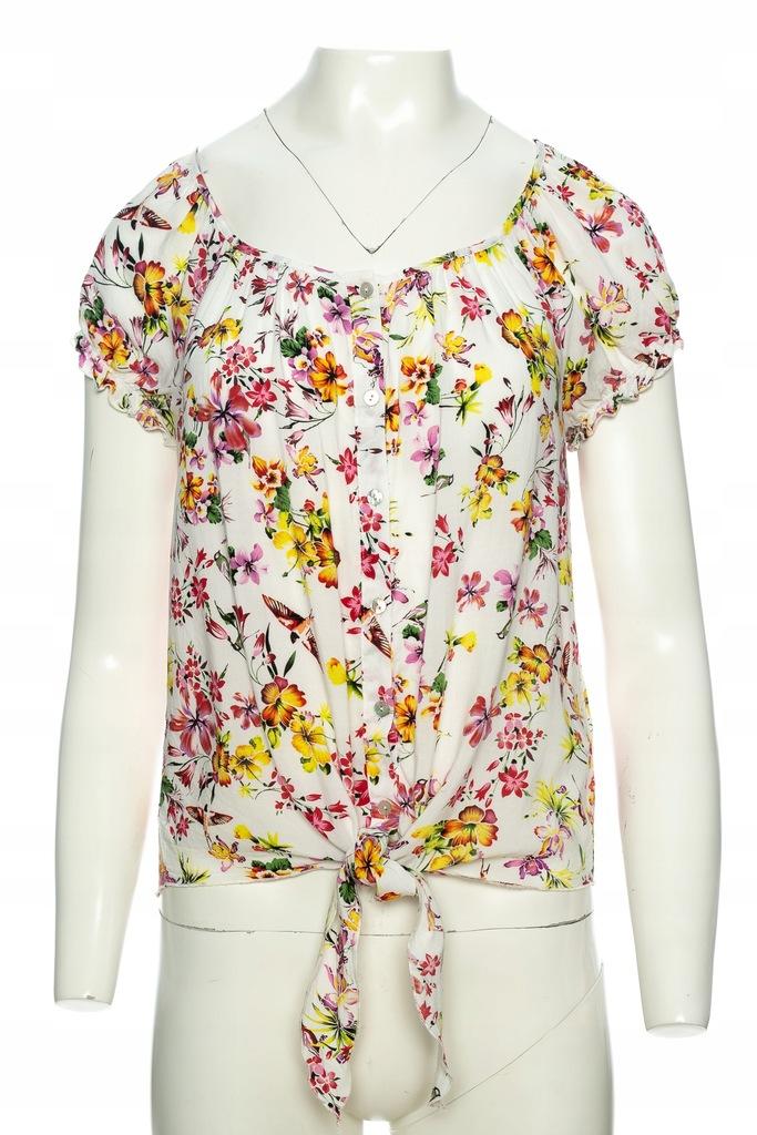 NEW YORKER biała koszula w kwiaty i ptaki r.SM 7514407966