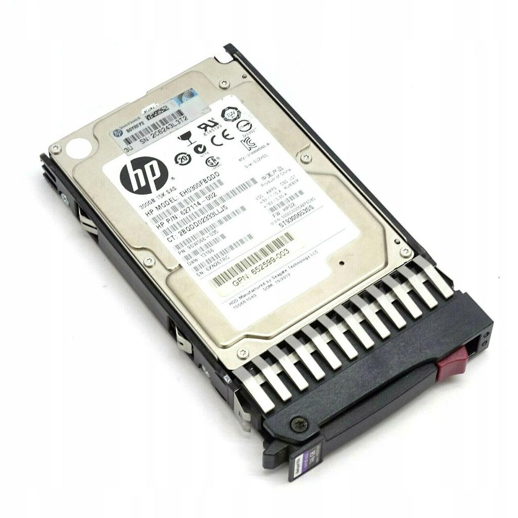 """SAS HP 300GB 2.5"""" 15K, 6G, EG0300FBQDD, GW,FV"""