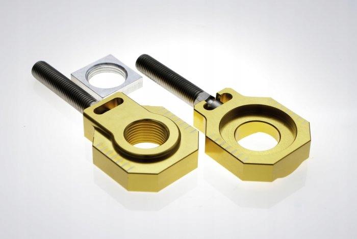 Napinacze tylnej osi Accel KTM złote KTM EXC 125