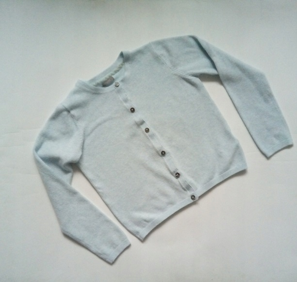 NEXT*błękitny klasyczny sweterek 128
