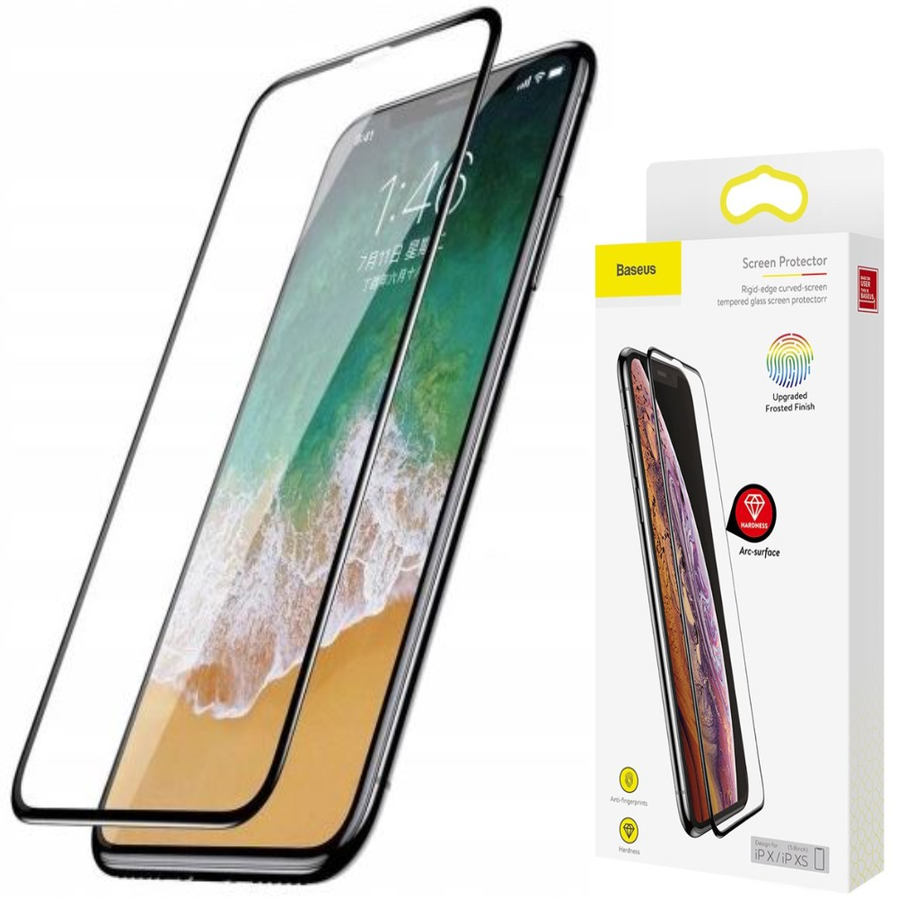 Baseus szkło Matt na cały ekran do iPhone XS Max