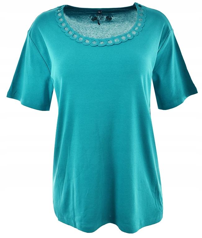 cBU9047 t-shirt z ozdobnym dekoltem 46