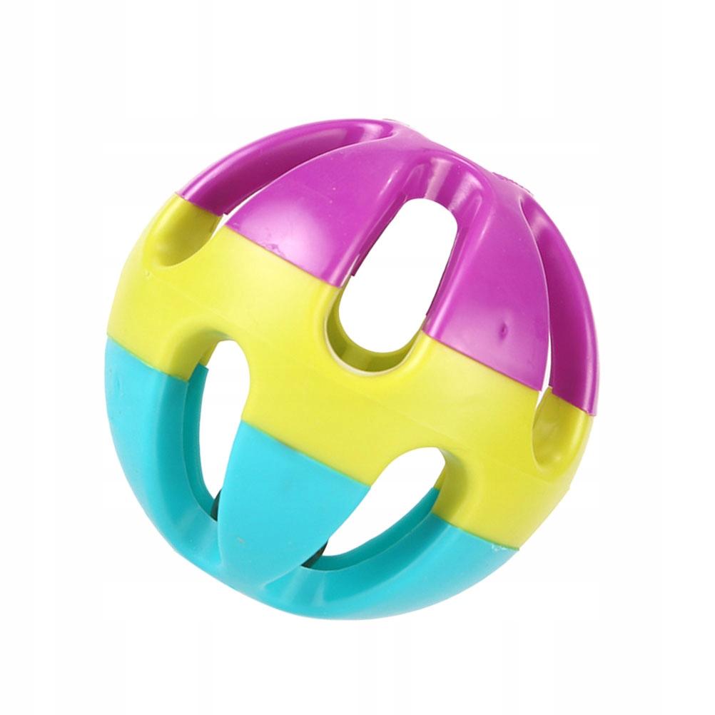 Śmieszne 3 kolory. 5szt. Piłka z dzwonkiem dla psa