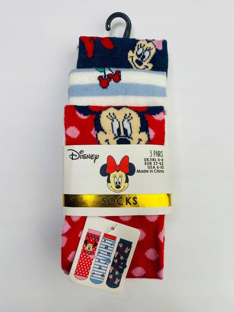 3 pak Skarpety Disney 37-42 myszka Minnie