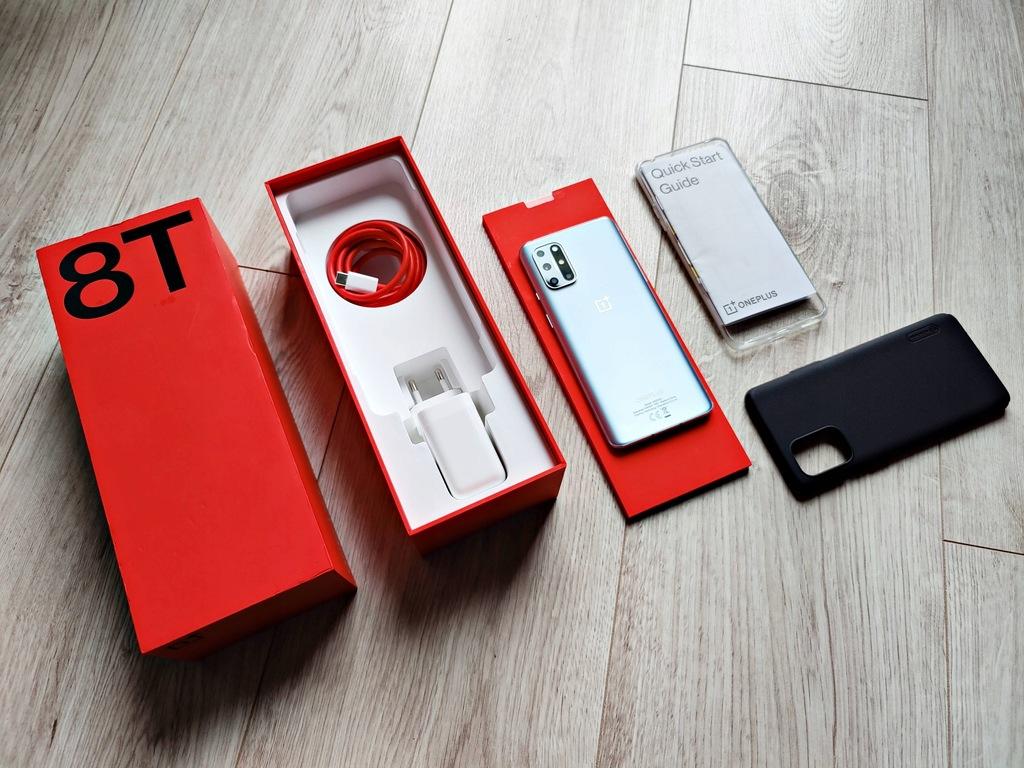 OnePlus 8T 5G 8/128 GB, komplet, ideał, gwarancja!