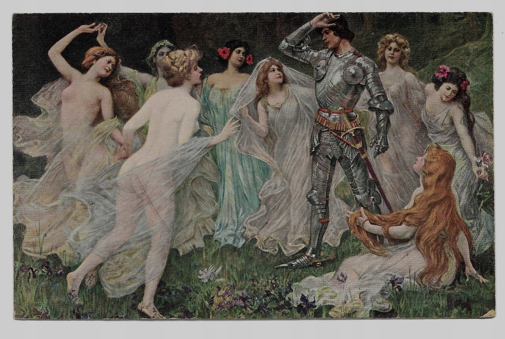 Nimfy Akt i Parsifal ok. 1910r. Joanowitsch 328F