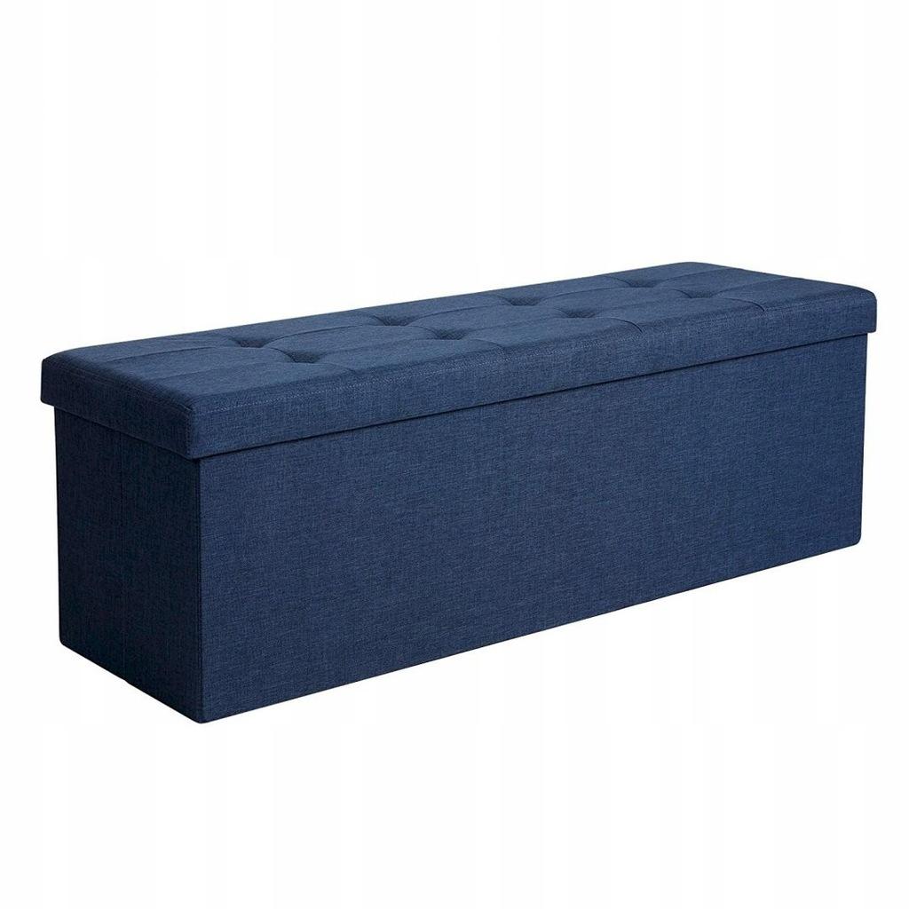 Pufa składana siedzisko skrzynia z pokrywą granato