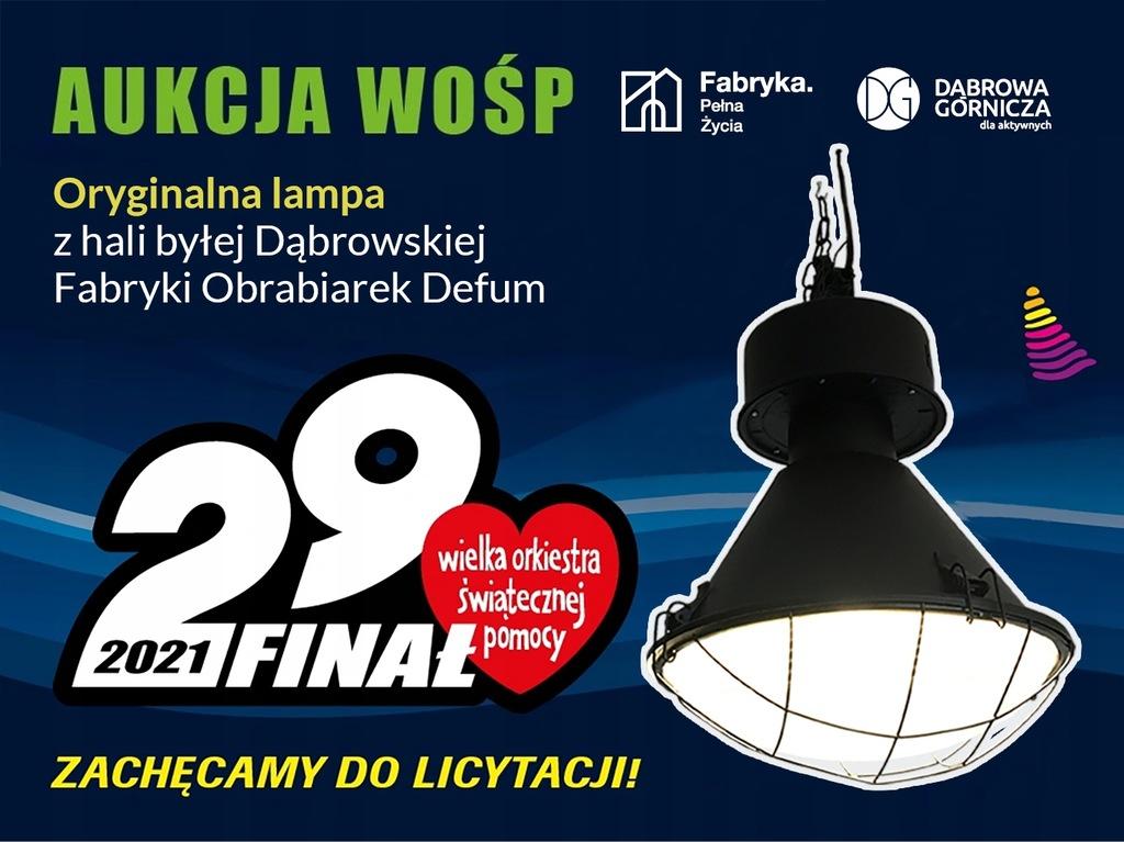 Oryginalna lampa z hali DEFUM