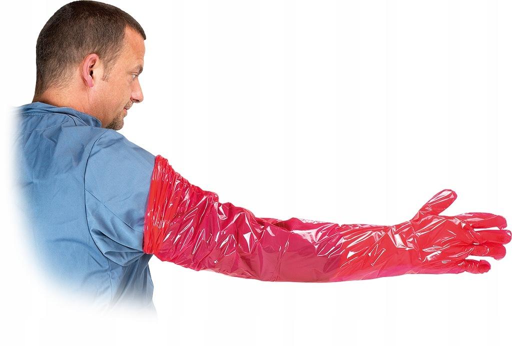 Rękawice weterynaryjne 100 szt. 95 cm