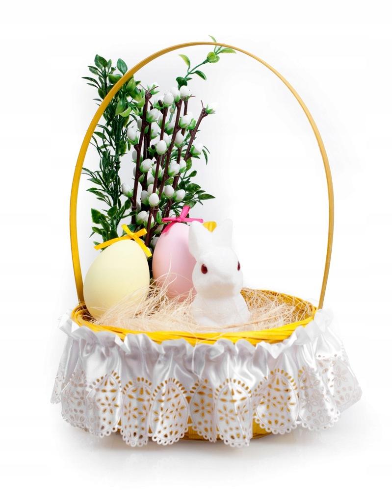 Serwetka zdobiąca koszyczek Wielkanocny atłasowa