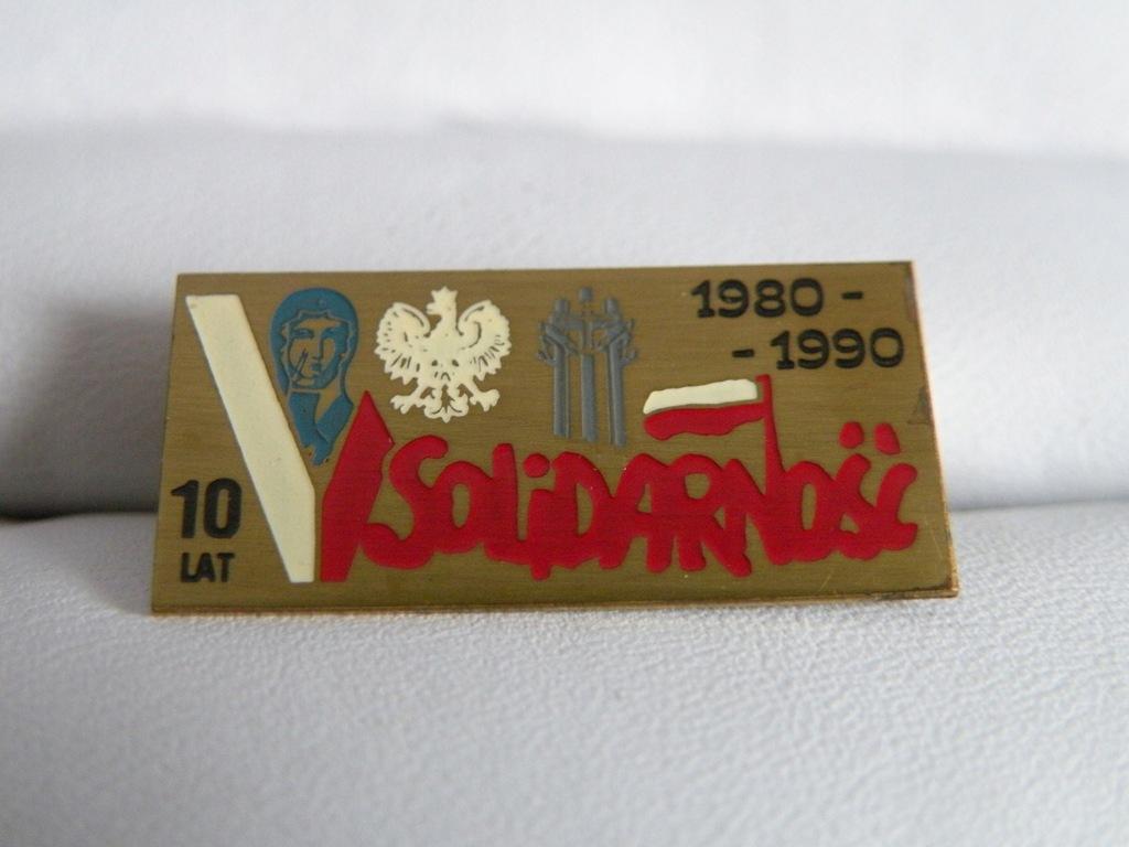 KOLEKCJONERSKA WPINKA SOLIDARNOŚĆ 1980-1990 UNIKAT
