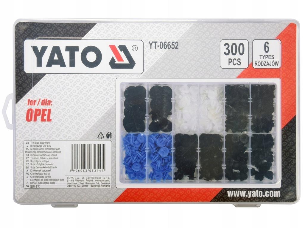 Spinki samochodowe OPEL 300 szt YATO YT-06652