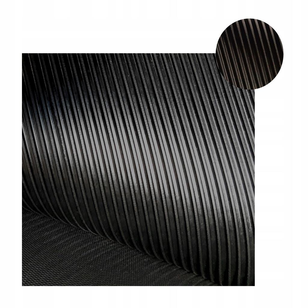 Mata płya gumowa wykładzina 3mm x 1200mm RYFLOWANA