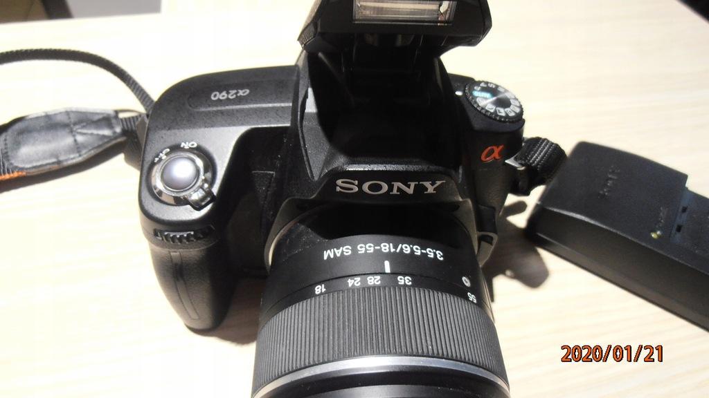 Aparat Sony Alpha 290 DSLR-A290 14 Mpx czarny