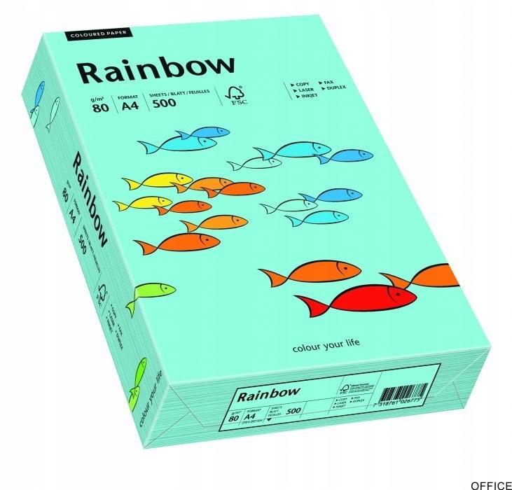 Papier xero kolorowy RAINBOW morski R84 88042717